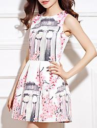 Diors Women's Fashion Floral Print Tank Dress