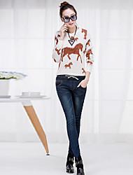 Women's Loose Waist Elastic Waist Jeans