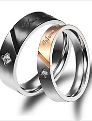 Titanium Steel Ring Couple Rings Wedding/Party/Daily/Casual