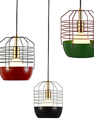 Mini Artistic Spider Web Pendant Lamp/1 Light/Mordern Simplicity/Finish Black/White/Green/Red/ Carbon Steel Droplight