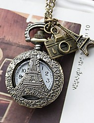 Camera Eiffel Pendant Watch