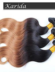 3 Stück Körperwelle ombre Haar Großhandel brasilianisches Haar, keine Verwicklung, kein Verschütten und weiche brasilianische ombre Haar