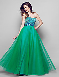 TS Couture® Formal Evening Dress A-line Sweetheart Floor-length Organza with Sequins