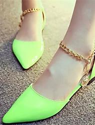 FALIA Women's Shoes Black/Green/Red Flat Heel 0-3cm Sandals (PU)