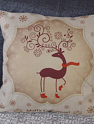 European Coloured Drawing or Pattern the Fawn Flax Car Office Home Hold Pillowcases