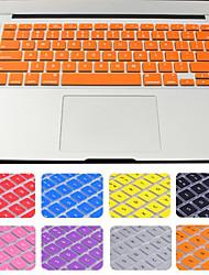 venda quente cor sólida tampa do teclado de silicone com embalagem para MacBook Air / pro / retina de 13 polegadas