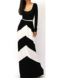 Clement  Women's Casual Long Sleeve Dresses (Cotton)