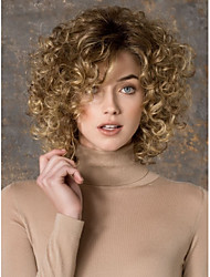 Hot Selling  Beautiful European Medium Long Bob Blonde Synthetic Wave