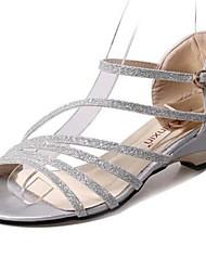Sandalias ( PU , Negro/Plateado/Almendra )- 3-6cm - Tacón grueso para Zapatos de mujer