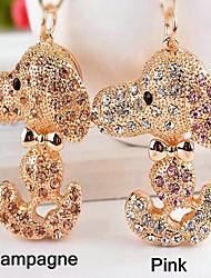Dog Rhinestone Wedding Keychain Favor