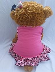 Perros Vestidos Rosa Verano Animal / Corazones Leopardo