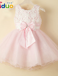 Kids Girls' Big Bowknot Sleeveless Princess Gauze Tutu Dress