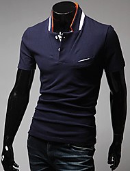 Men's Stand Collar Short Sleeve Slim Polo Shirt