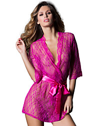 Women Lycra/Lace Sexy Robes & Slippers/Sleepwear Fuchsia