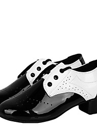 Children's Dance Shoes Heels Leatherette Cuban Heel Black and White