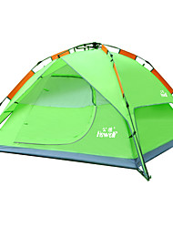 Hewolf Moistureproof Waterproof Polyester One Room Auto Build Tent 1768 Green/Blue/Chocolate/Army Green