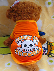 Dog Shirt / T-Shirt Orange Summer Skulls