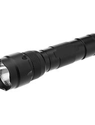 wf-502B 5-Modalità CREE XM-L T6 torcia led con clip (900LM, 1x18650, nero)