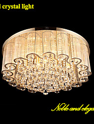 Modern Noble LED Crystal Light Living Room LED Absorb Dome Light Diameter 60CM Contains 6 LED Bulbs