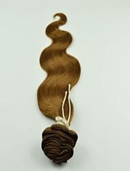 """12 """"-26"""" brazilian virgem onda corpo cabelos cheios cabeças clipes de extensões de cabelo castanho claro Cor"""
