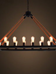 Wrought iron Chandelier Retro Personality Sitting room Lamps Chandelier lanterns Bar Lamp act the Role ofing