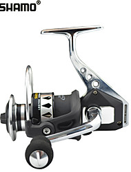 SHISHAMO Full Metal Body 5.5:1, 12+1 Ball Bearings with One Way Clutch Spinning Reel, Left & Right Hand Exchangble