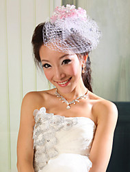 Women Net Fascinators/Flowers With Wedding/Party Headpiece