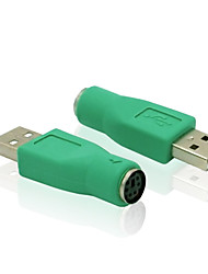 usb 2.0 macho para conector do adaptador de teclado de computador do mouse PS / 2 conversor adaptador feminino