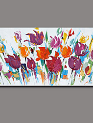 Floral/Botanical Oil Painting Hand-Painted Wall Art Other Artists Hand-Painted Oil Painting7878-2