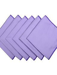 Sinland Microfiber Cleaning cloth for Stainless Steel Appliances Glass Window Cleaning Cloths 16 Inch×16 Inch 6 Pack
