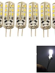 2W G4 Ampoules Maïs LED 24 SMD 3014 150 lm Blanc Froid Décorative AC 100-240 V 6 pièces