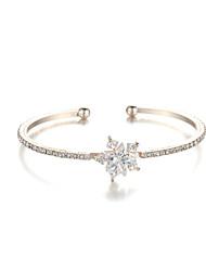 Sjewelry Girls Latest Style White Zircon Plating rose Gold Bracelet