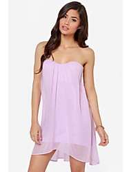 Women's Blue/Pink/Purple Dress , Casual/Party Sleeveless