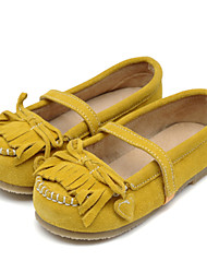 Girl's Flats Spring Fall Comfort Leather Outdoor Casual Flat Heel Gore Earth Yellow