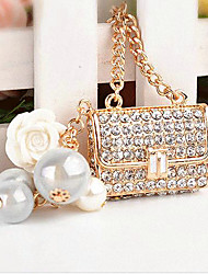Bag Rhinestone Wedding Keychain Favor