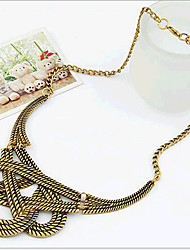 New Arrival Fashional Retro Geometric Spiral Necklace
