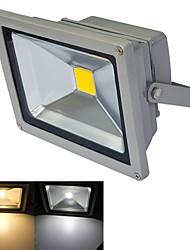 JIAWEN® Gray IP65 Waterproof 20W 1800Lm 3000-3200K/6000-6500K Warm White Light /White Light LED Flood Light (DC 12V)