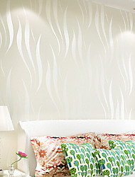 New Rainbow™ Contemporary Wallpaper Stripe modern style Wall Covering Non-woven Fabric Wall Art