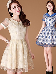 PinShang Women's Casual Short Sleeve Dresses