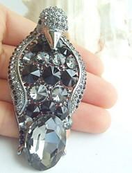 Women Accessories Black Gray Rhinestone Crystal Brooch Art Deco Penguin Brooch Scarf Pin Women Jewelry