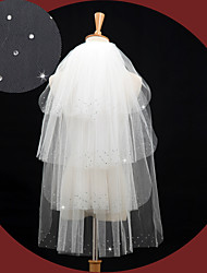 Wedding Veil Four-tier Elbow Veils Beaded Edge
