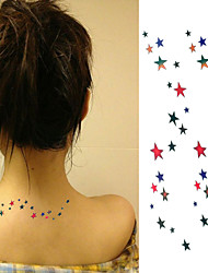 Multicolour Lucky Meteor Tattoo Stickers Temporary Tattoos(1 pc)