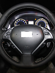 XuJi ™ Black Genuine Leather Steering Wheel Cover for Infiniti G25 G35 G37 2009-2013