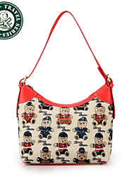 DAKA BEAR® Women's Hobo Canvas Bag  PU Handbag Shoulder Bag