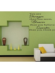 You Are Stronger Home Decoration Quote Wall Decal Zooyoo8058 Decorative  Removable Vinyl Wall Sticker