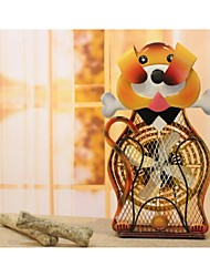 pintado himalayan fan pug decorativo hierro esculpido a mano