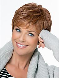 naturale soffici senza cappuccio di alta qualità breve ondulati mono capelli umani top parrucche dodici colori tra cui scegliere