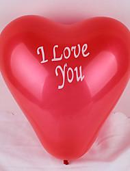 (100 pezzi) 12 pollici ti amo palloncino a forma di cuore (colore casuale)