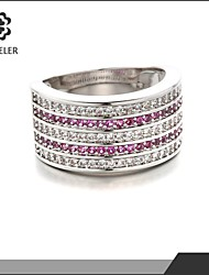 Newest Fashion Ring Platinum Plated With Zirconal Gilrs Ring