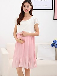Maternity Breastfeeding Clothes Pregnant Woman Soft Chiffon Nursing Dress